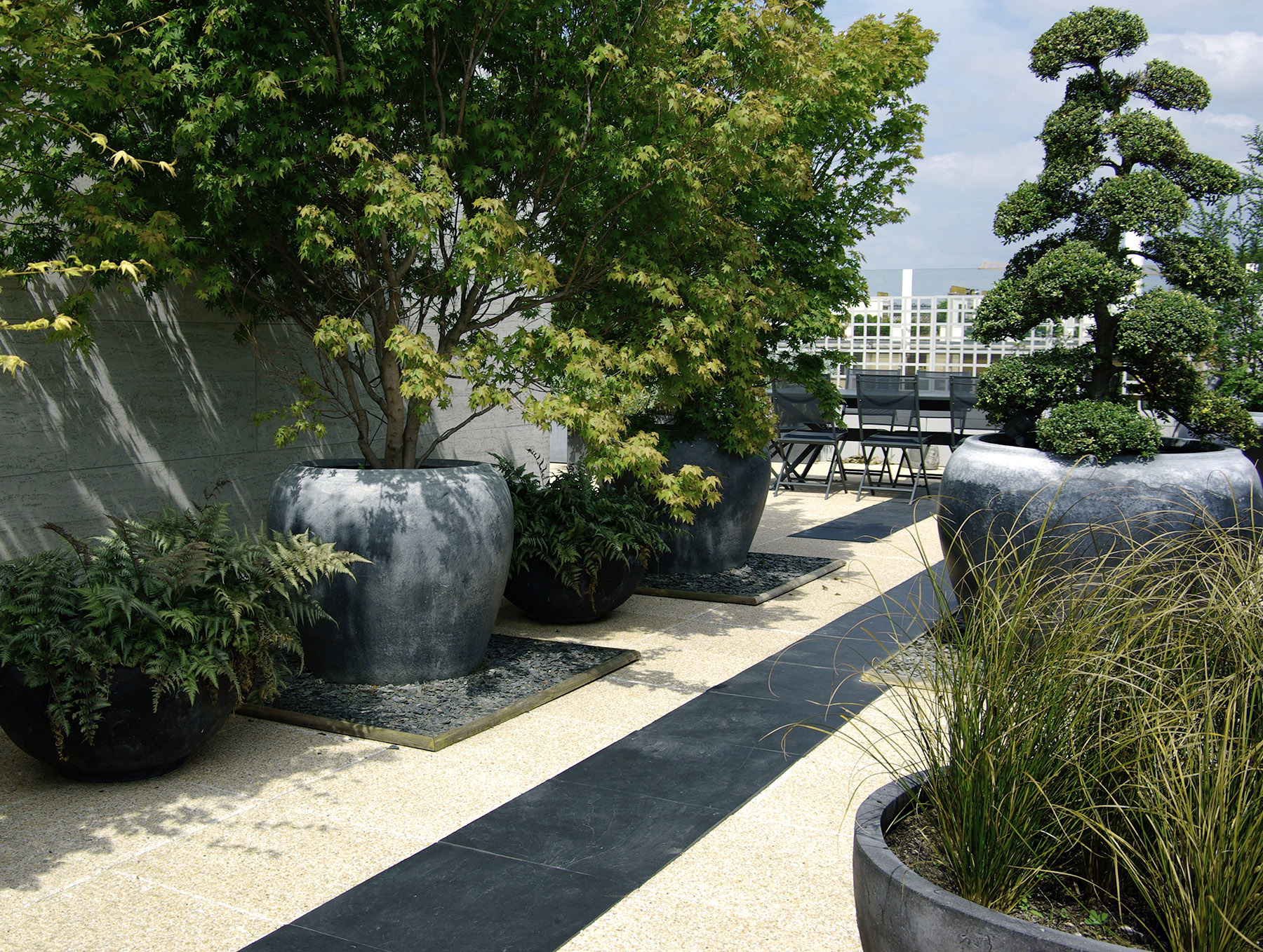 Terrasse design contemporain exception paysagiste Neuilly Olivia Bochet