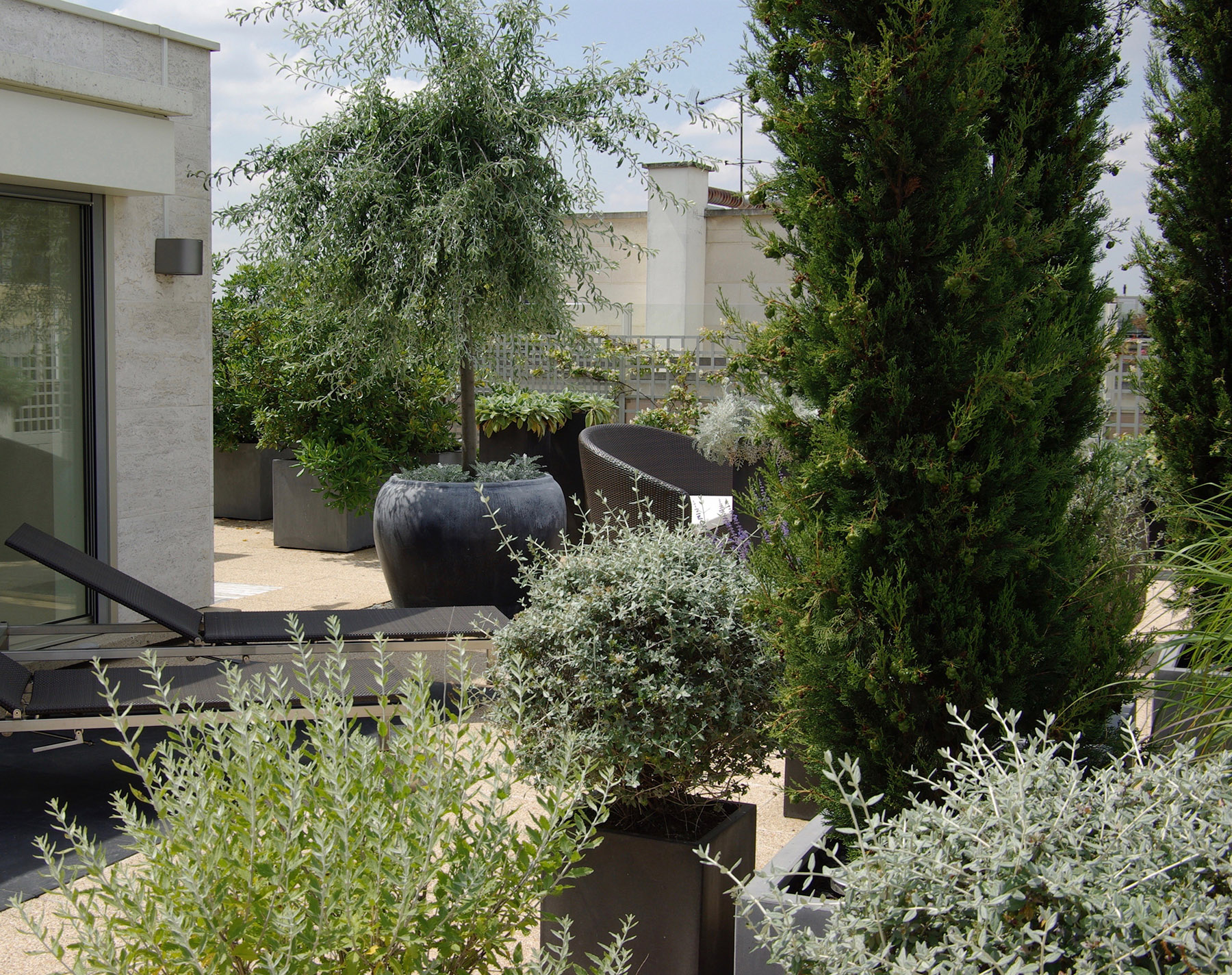Terrasse design exception paysagiste Paris Olivia Bochet