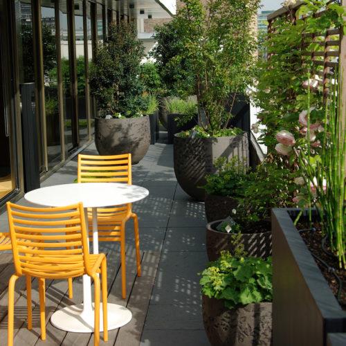 Terrasse haut de gamme elegance Neuilly Olivia Bochet