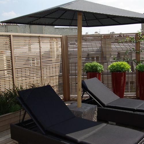 Terrasse luxe design zen Paris Olivia Bochet
