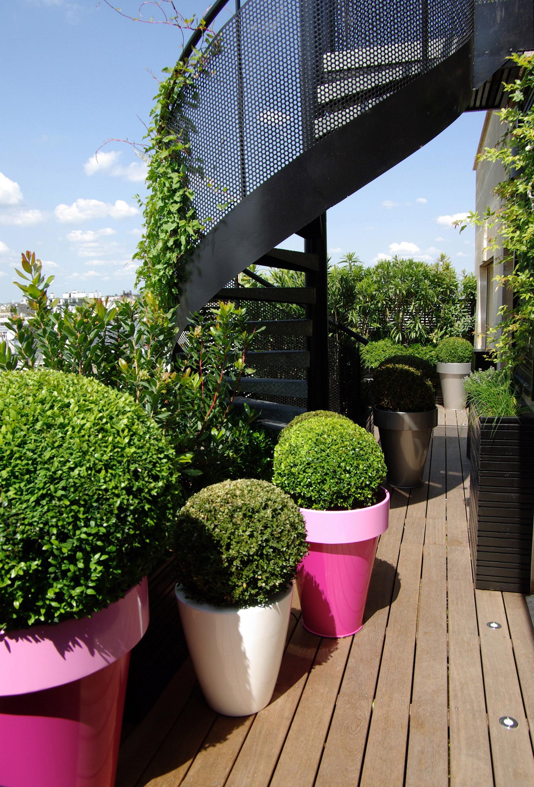 Terrasse luxe outdoor paysagiste Paris Olivia Bochet